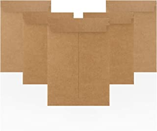Amiff Rigid Mailers 7.25 x 10.25 牛皮纸纸板邮寄袋 7 1/4 x 10 1/4。每包 10 个可回收邮寄信封。保持平邮。无弯曲、自封。纸板信封用于运输、包装。