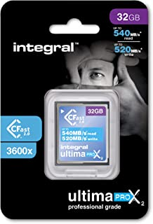 Integral UltimaPro X2 32 GB CFast 2.0 内存条INCFA32G-540/520 32GB