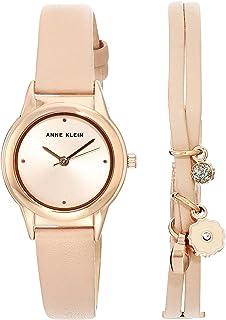 Anne Klein 安妮克莱因 女士表带手表和手链套装