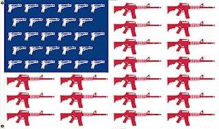 美国步枪条纹手枪星 2ND 修正版 3X5 旗帜