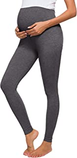Jezero 女式孕妇瑜伽裤运动锻炼打底裤 Over Bump 孕妇裤