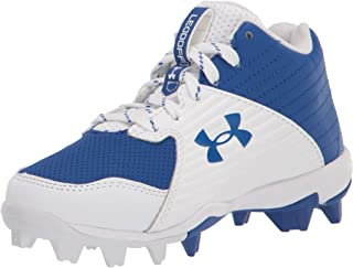 Under Armour 儿童 Leadoff Mid Rm Jr. 棒球鞋