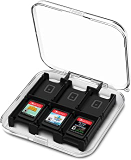 TNP 游戏卡套盒盒适用于 Nintendo Switch,Switch Lite 视频游戏卡(12 槽透明外壳)便携式保护存储开关游戏卡/Micro SD 卡夹盒配件