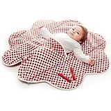 wallaboo 婴儿毛毯 Fleur 超柔100% 棉新生儿适用于婴儿车婴儿睡篮或婴儿床和旅行花朵形状85 cm re…