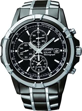 Seiko 精工 男士SSC143不锈钢太阳能手表,链节表链