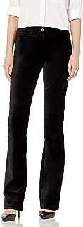 PAIGE 曼哈顿天鹅绒高腰喇叭裤