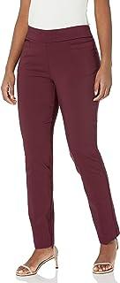 Briggs New York 女式超弹力千年贴边口袋套穿职业裤