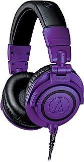 audio-technica 专业监听耳机 【限定颜色】紫色黑色 ATH-M50x PB