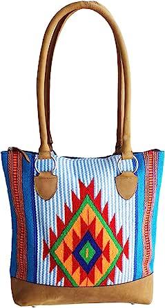 CHALLENGER 女式西部手工编织羊毛牛仔女手提包单肩钱包手提包 10309E