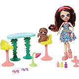 Enchantimals GFN54 Vamos al Slow-Down 沙龙美甲和水疗玩具套装,带Sela Slot…