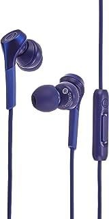 audio-technica SOLID BASS 智能手机入耳式耳机 重低音 支持高解析度音源 蓝色 ATH-CKS550XiS BL