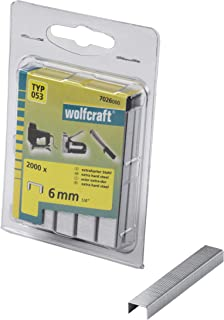 Wolfcraft 1000 订书钉 广型 53 硬钢 黑色 6mm 7026000