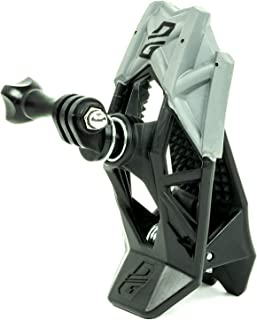 Dango Design 夹钳支架 – 通用夹具支架适用于运动相机,可用作摩托车、电力运动头盔等 – 隐形黑色