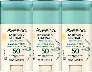 (3 件装)Aveeno 艾维诺 Positively 矿物汗水 + 防水无香料