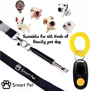 SmartPet 狗口哨和响声器套装 | 专业狗口哨停止吠叫和狗训练响声 | 狗狗静音止吠控制 | 人声声音 | 高级挂绳和训练说明