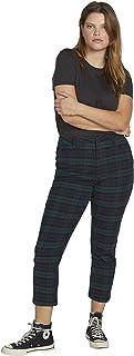 Volcom 女式 Frochickie 加大码高腰斜纹棉布裤