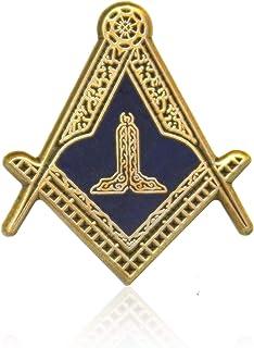 S&C 资深怀旧翻领别针 Masonic Revival(金色)