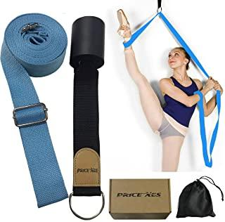 腿部弹力带 - 改善腿部伸展 - 轻松安装在门上 - 芭蕾舞、舞蹈和体操锻炼的完美家居设备灵活伸展带脚伸展带(浅蓝色)