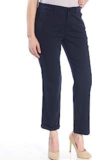 LAUREN RALPH LAUREN 女式娇小斜纹棉布裤颜色*蓝 尺码 8小号