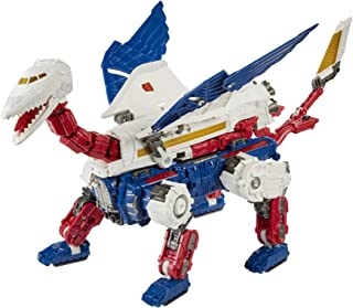 Transformers Toys Generations War for Cybertron:Earthrise Leader WFC-E24 Sky Lynx(5 种模式)可动公仔 - 8 岁及以上儿童,11 英寸