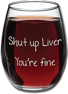 Shut Up Liver You're Fine - 趣味无*杯 425.24g - 婚礼葡萄*礼物 - 送给妈妈、她的独特礼物 - 送给小孩的生日礼物 - 送给*人爱人的礼物