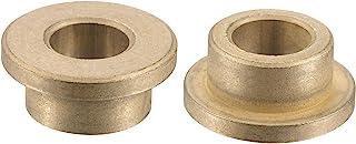 uxcell 法兰套筒轴承 10mm 孔径 16mm 外径 10mm 长 22mm 法兰直径 3mm 法兰厚度烧结青铜自润滑衬套 2 件
