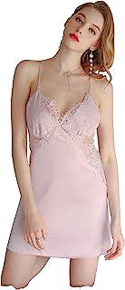Sepduvon 性感蕾丝睡袍套装缎面内衣娃娃睡袍