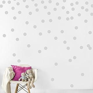 墙贴圆点贴花 灰色 dots_GRA