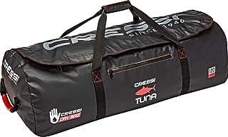 Cressi 中性成人Tuna Bag 120 LT 防水旅行袋用于潜水,黑色/红色,120 L