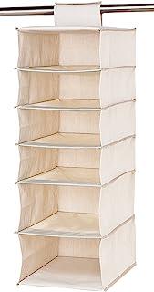 ASTRO 衬衫收纳架 悬挂式 麻面料 衣柜收纳 自然 600-11