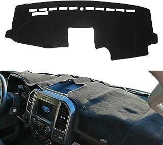 MODIGT 仪表板盖中心控制台垫适用于福特 F150 2015 2016 2017 2018 2019 2020 保护套黑色仪表板福特内饰配件
