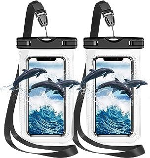 防水手机壳,2 件装 IPX8 通用防水手机袋干燥袋带挂绳,适用于户外水上运动、划船、徒步旅行,适用于 iPhone 12 Pro Max/11/XS Max/XR/X Galaxy S21 S20 等。 *大可达 7 英寸