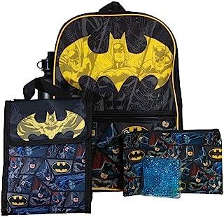 青少年蝙蝠侠背包和午餐套装 5 件套