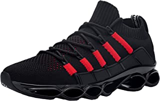 DYKHMATE 男式钢头鞋 轻便*运动鞋 防滑工作鞋 舒适透气*脚趾一脚蹬网球鞋