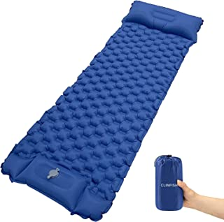 双层充气野营睡垫,2 个枕头,防水睡垫,轻质便携式充气床垫,帐篷背包徒步旅行旅行