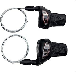 MEGHNA 自行车移位杆套装 6/7/8 速自行车扭转移位器套装 自行车速度杆(一对)