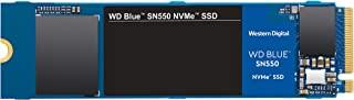 Western Digital Blue SN550 1TB NVMe内部固态硬盘-Gen3 x4 PCIe 8Gb / s,M.2 2280,3D NAND,高达2,400 MB / s-WDS100T2B0C