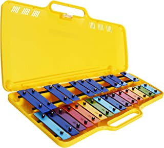 Metallofono Cromatico,25 Note da SOL2 a SOL3 (G2-G3) con astuccio in plastica e 2 battenti。 Adesivi 彩色杠铃