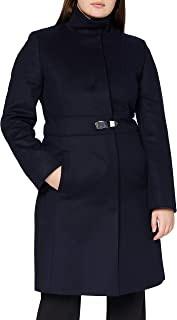 HUGO 女式 Milora 羊毛混纺大衣
