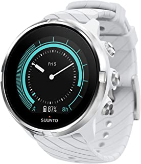 SUUNTO 颂拓 9 中性多种户外运动GPS手表,电池使用时间超过25小时,防水至100 m,手腕心率监测器,彩色显示,矿物玻璃