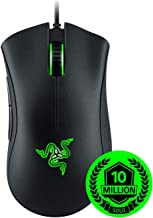 Razer 雷蛇 DeathAdder Essential 游戏鼠标:6400 DPI 光学传感器 - 5 个可编程按钮 - 机械开关 - 橡胶侧把手 - 经典黑色