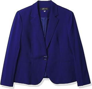 Kasper 女式前按扣缺口夹克