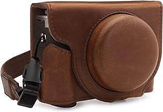 MegaGear Ever Ready 皮革相机半壳,兼容佳能 PowerShot G7 X Mark III