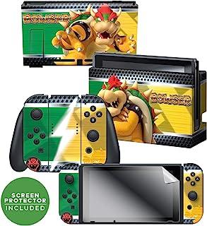 "Controller Gear 官方*任天堂 Switch Skin & 屏幕保护膜套装 - *马里奥 - ""Yoshi Bricks"" - Nintendo Switch Bowser Vs"