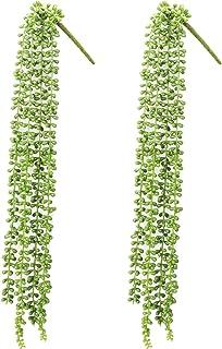Lover's tears 2 件装 CASESHIP 仿真常春藤假植物绿藤悬挂藤*叶子适用于室内户外婚礼派对 64.75 厘米/每个