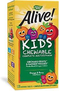 Nature's Way Alive! 儿童优质综合维生素咀嚼片,无麸质,120粒