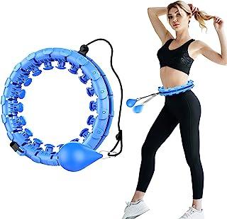 OllyPet Smart Hula Hoops 腹部健身器材,24 个可拆卸结,可调节重量自动旋转球,2 合 1 健身减重和按摩,可拆卸,适用于成人/儿童/初学者健身辅助器