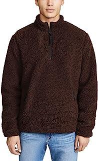 poriff 男士微羊毛套头毛衣四分之一拉链学员领运动衫