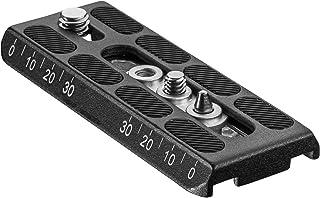 Mantona 快速更换板 适用于 Dolomit 和 Cineast,视频三脚架快速更换相机板,铝,105 x 42 x 10 毫米,1 x 1/4 和 1 x 3/8 螺钉,适用于三脚架头