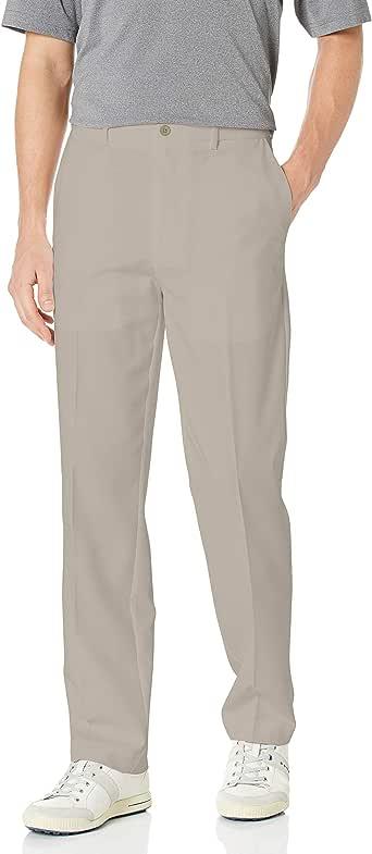 PGA TOUR 男士无褶高尔夫长裤可扩展腰带